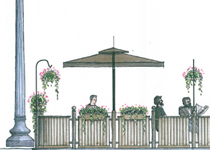 Elevation of Design for Nonna's Outdoor Dining Area