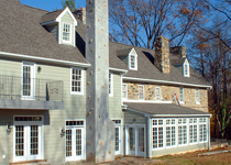 Historic Mansion Restoration and Addition with original stone building